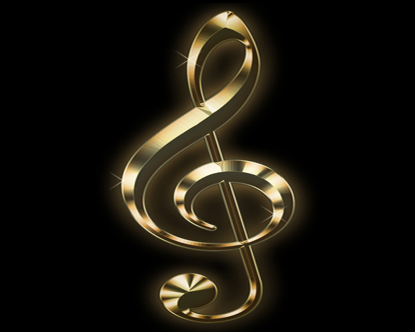 Gold treble clef icon